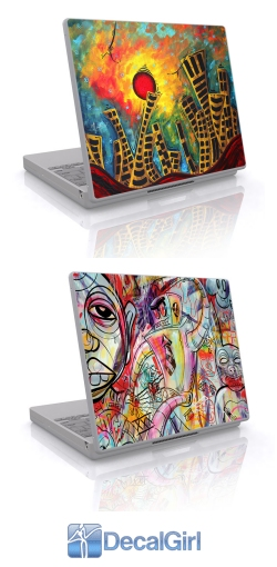 artistic laptop skins from decalgirl