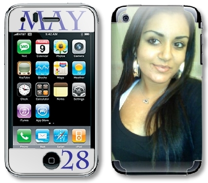 custom engagement photo phone skin