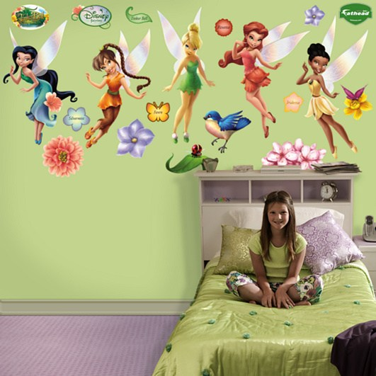 Disney wall stickers 2017 grasscloth wallpaper for Disney fairies wall mural