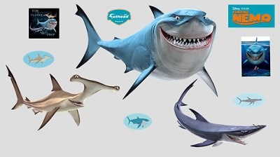 Finding Nemo Sharks - Wall Stickers from fathead