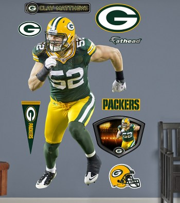 Clay Matthews Fathead Decals