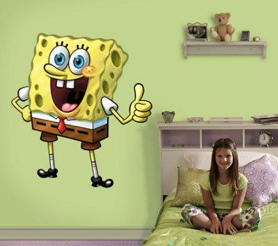 giant sponge bob wall sticker