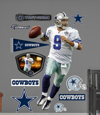 Giant Tony Romo Wall Decals