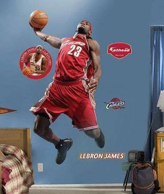 lebron james heat dunking. lebron-james-dunk-wall-sticker