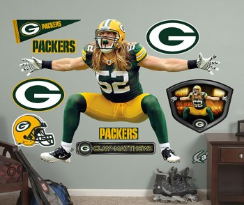 Clay Matthews Wall Stickers