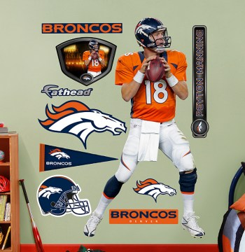 Peyton Manning Denver Broncos Wall Decal