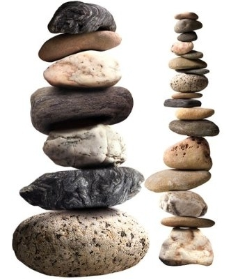 stacked stones rocks wall sticker