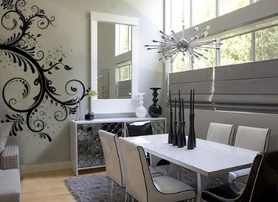 swirl floral branch wall decal stickers