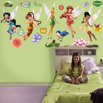 Tinker Bell Disney Fairies Wall Sticker Set