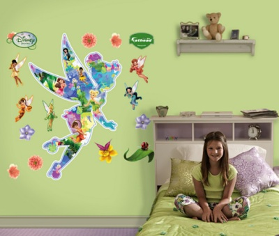 pics photos tinker bell fairy giant wall decal rmk2588scs disney fairies best fairy friends wall stickers