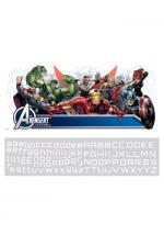 "FUN.com 39"" Avengers Giant Wall Decal with Personalization"