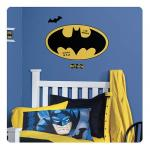 Entertainment Earth Batman Logo Dry Erase Peel and Stick Giant Wall Decals