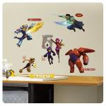 Entertainment Earth Big Hero 6 Marvel Peel and Stick Wall Decals