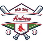 Fathead Boston Red Sox Personalized Name Fathead Wall Decal