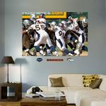 Fathead Broncos Defense In Your Face Mural Fathead Wall Decal