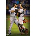 Fathead Bumgarner and Posey 2014 World Series Celebration Mural Fathead Wall Decal