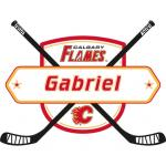 Fathead Calgary Flames Personalized Name Fathead Wall Decal