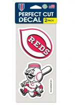 Rally House Cincinnati Reds 2-Pack 4x4 Perfect Cut Decal
