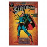 Hayneedle Comic Book Cover- Superman Kryptonite Wall Decal- 24W x 36H in.