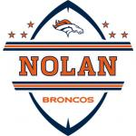 Fathead Denver Broncos Personalized Name Fathead Wall Decal