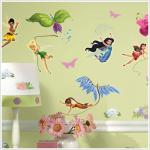 Entertainment Earth Disney Fairies Wall Decals with Glitter