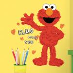 RoomMates Peel and Stick Elmo Loves You Giant Wall Decal