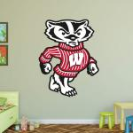 Hayneedle Fathead NCAA Wisconsin Badgers Bucky Mascot Wall Decal