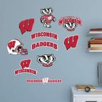 Hayneedle Fathead NCAA Wisconsin Badgers Junior Logo Assortment Wall Decal